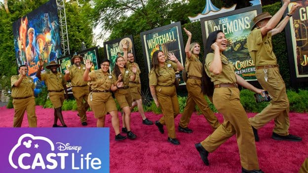 Skippers from the Jungle Cruise attraction at the world premier of Disney's 'Jungle Cruise'