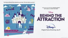 Graphic for new 'Behind the Attraction' series on Disney+