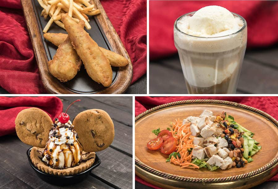 Collage of food offerings from Disneyland Park