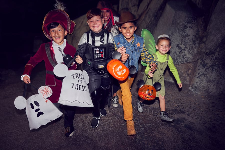 Group of kids at Oogie Boogie Bash – A Disney Halloween Party
