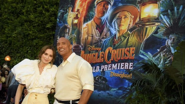 """Dwayne Johnson and Emily Blunt arrive at the World Premiere of Disney's """"Jungle Cruise"""" at Disneyland Park"""