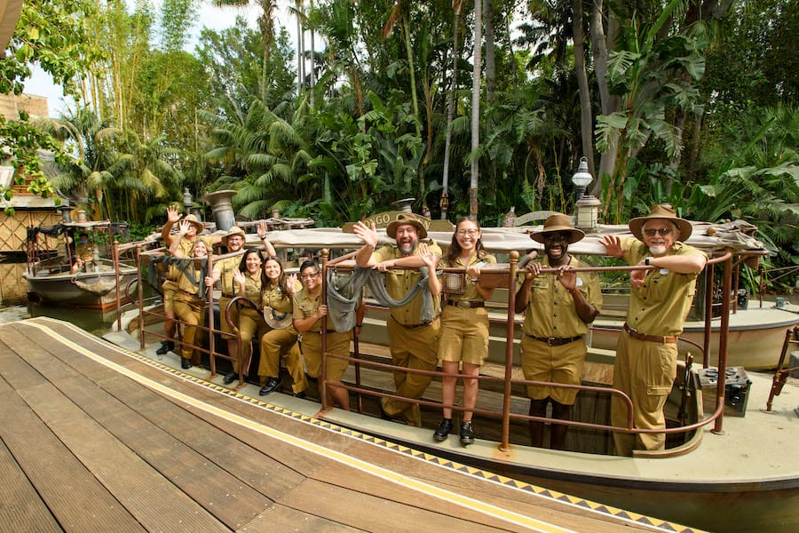 """Jungle Cruise Skippers arrive at the World Premiere of Disney's """"Jungle Cruise"""" at Disneyland Park"""