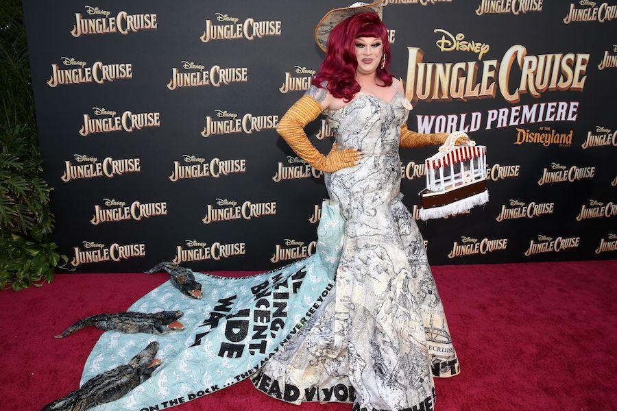 "Nina West at the World Premiere Of Disney's ""Jungle Cruise"" at Disneyland Park"