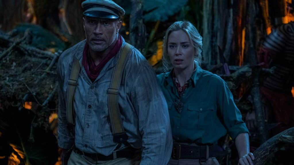 """Dwayne Johnson is Frank Wolff and Emily Blunt is Lily Houghton in Disney's """"Jungle Cruise"""""""