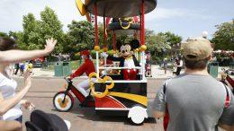 Mickey Mouse on Main Street U.S.A. at Disneyland Park in Disneyland Paris
