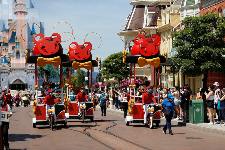 Mickey Mouse and his pals on Main Street U.S.A., Disneyland Park Paris