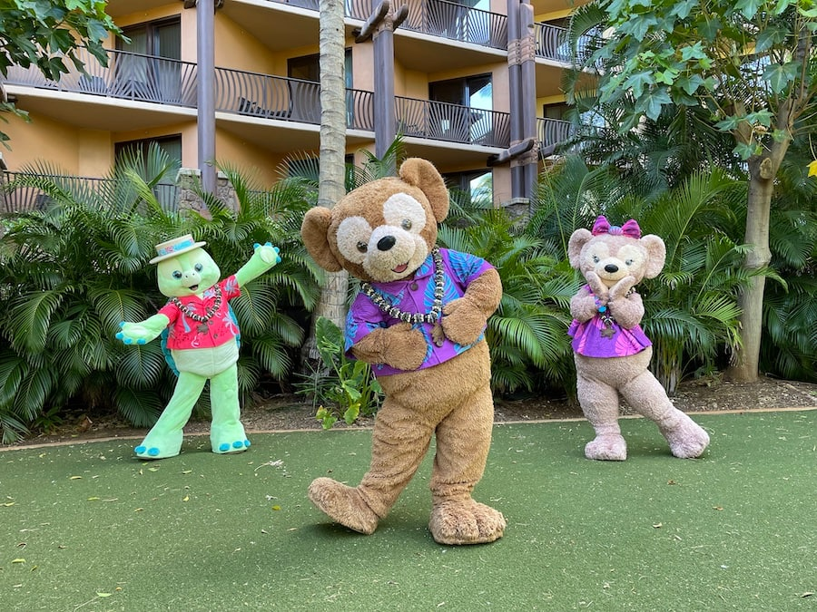 Duffy and friends at Aulani