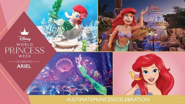 Graphic celebrating Ariel at Disney Parks