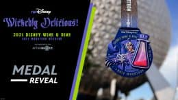 runDisney Medal Reveal graphic for the 2021 Disney Wine & Dine Half Marathon