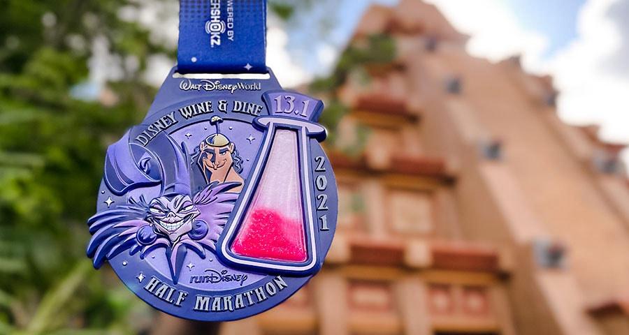 2021 Disney Wine & Dine Half Marathon finisher medal