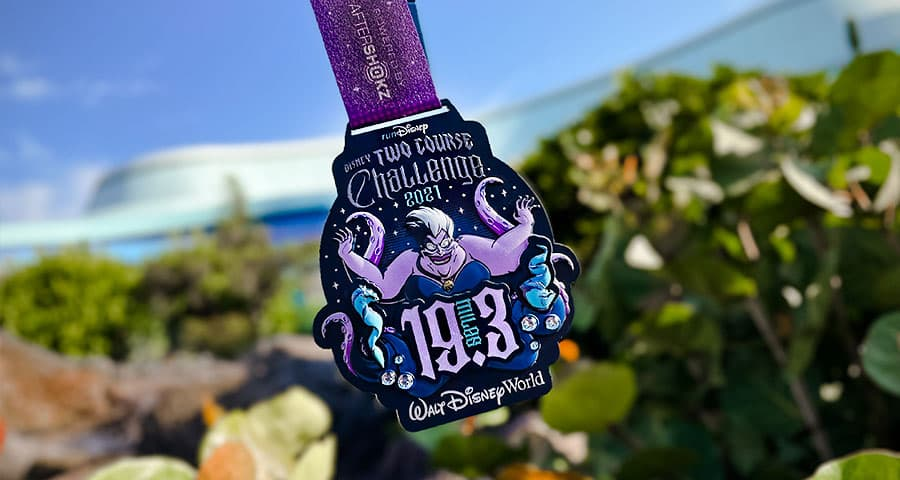 2021 Disney Wine & Dine Two Course Challenge finisher medal