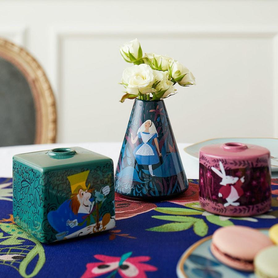 Alice in Wonderland ceramic vases