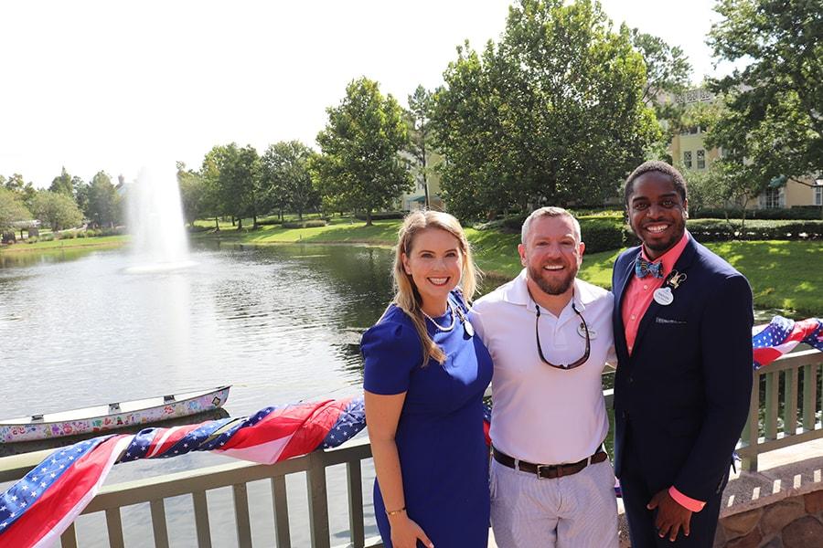 Walt Disney World Ambassadors with Recreation Guest Experience Manager Derrison Steer