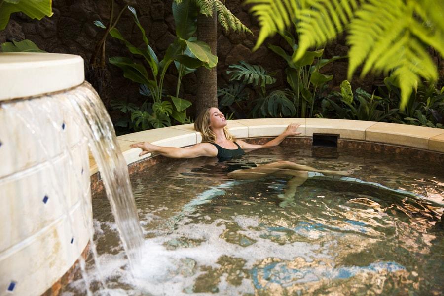 Guest relaxing at Laniwai – A Disney Spa