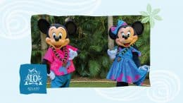 Mickey Mouse and Minnie Mouse at Aulani, A Disney Resort & Spa