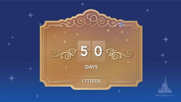 Walt Disney World 50th Anniversary - Countdown: 50 Days - Citizen