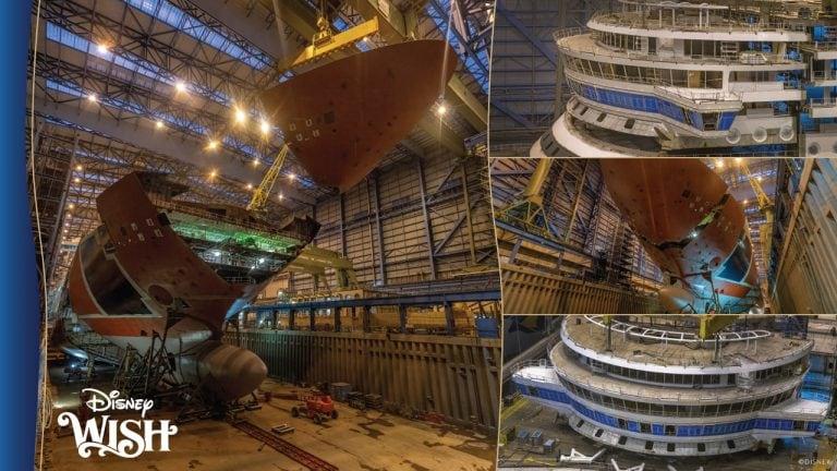 Disney mostra imagens da construção do Disney Wish
