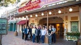 Cast members on Heritage tour