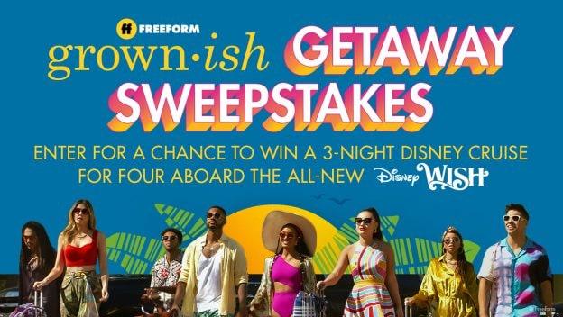 Freeform's 'grown-ish Getaway Sweepstakes'