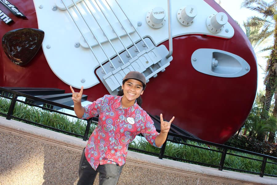 Cast Member, Brianna, at Rock 'n' Roller Coaster at Disney's Hollywood Studios
