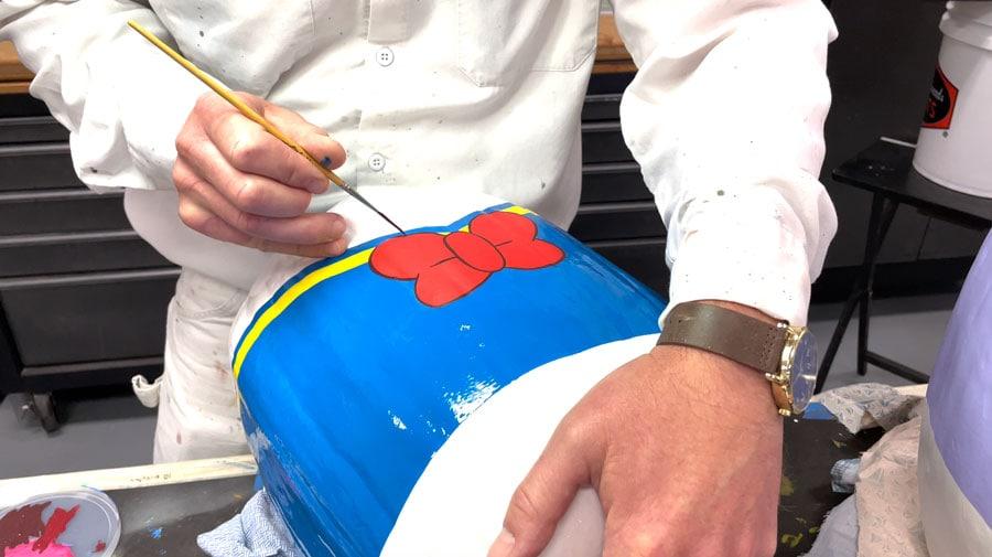 Donald Duck painted pumpkin