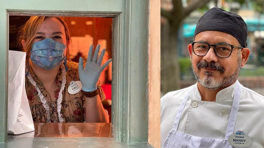 Disneyland Resort cast members Emily and Manny