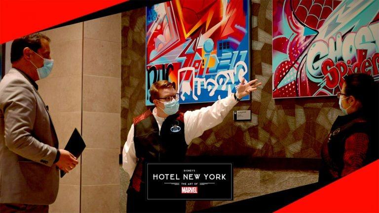 Disney mostra uma diária no Disney's Hotel New York – The Art of Marvel