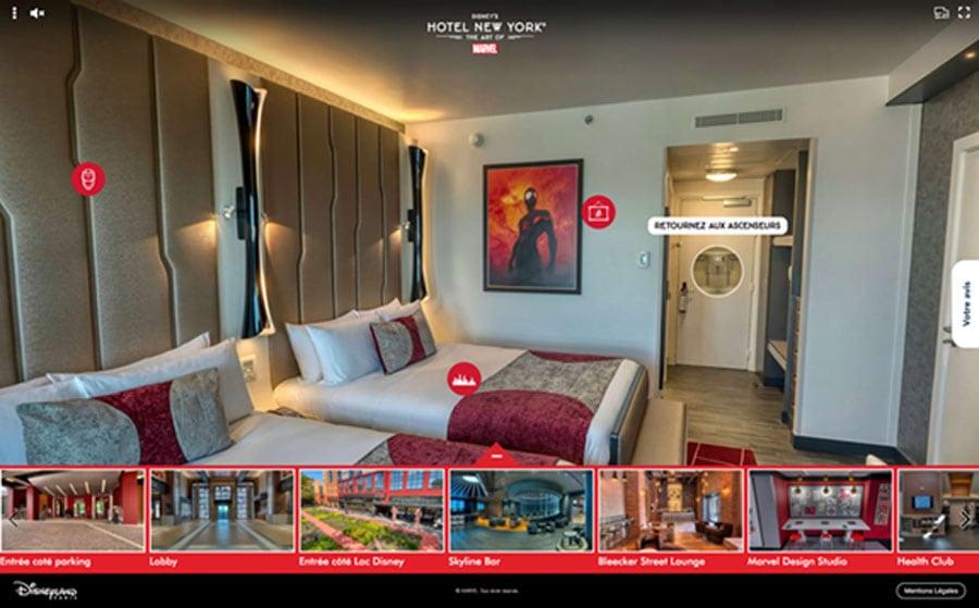 Virtual Tour of Disney's Hotel New York - The Art of Marvel