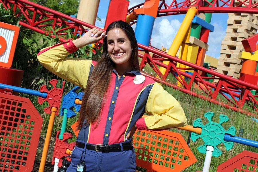 Cast Member, Brenly, working Slinky Dog Dash at Disney's Hollywood Studios