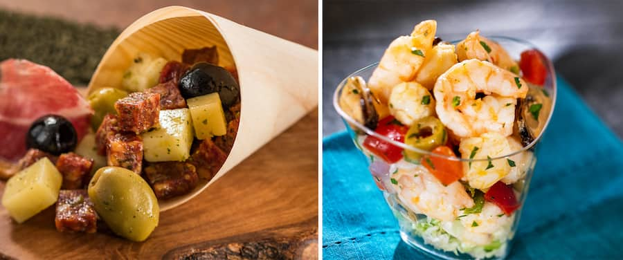 Food offerings from the Spain marketplace during the EPCOT International Food & Wine Festival presented by CORKCICLE