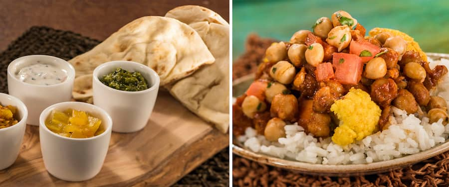 Food offerings from the India marketplace during the EPCOT International Food & Wine Festival presented by CORKCICLE