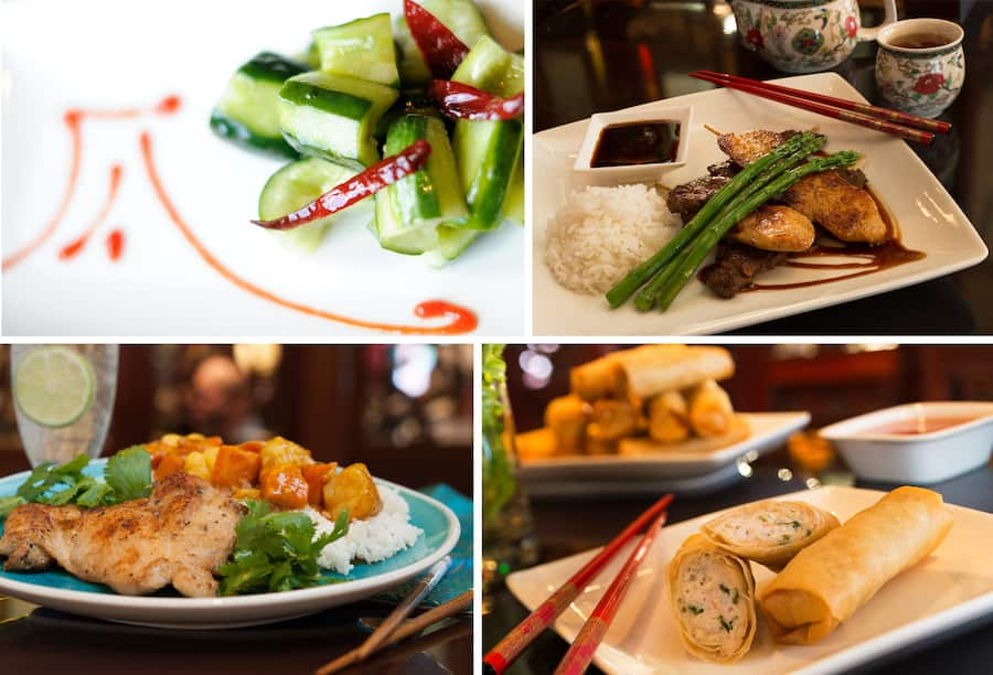 Food offerings from Nine Dragons Restaurant in the China pavilion at EPCOT