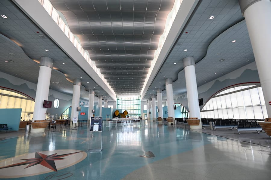 Newly enhanced Disney Cruise Line terminal at Port Canaveral