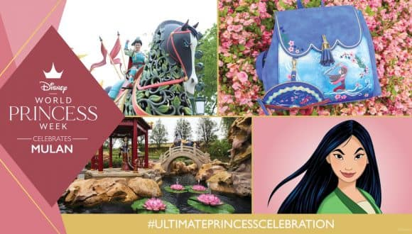 Graphic of Mulan-inspired experiences at Disney parks