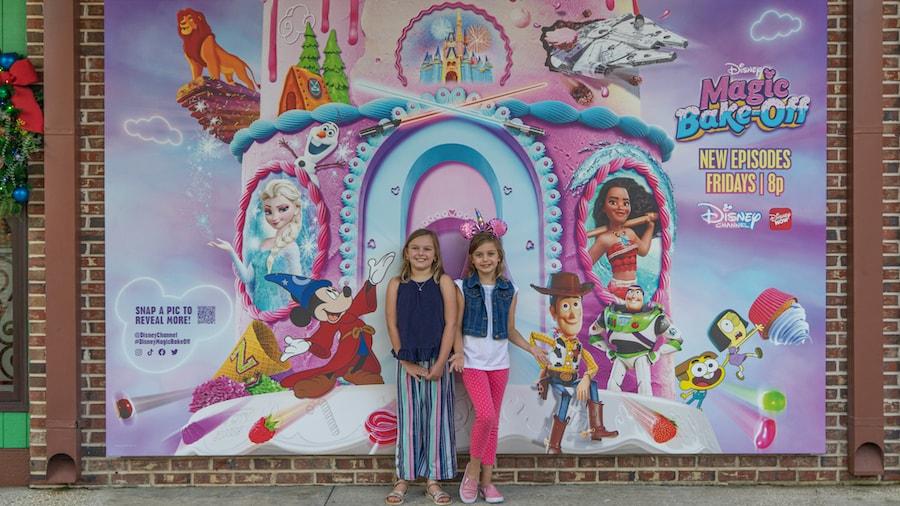 """New """"Disney Magic Bake-Off"""" photo wall at Disney Springs"""