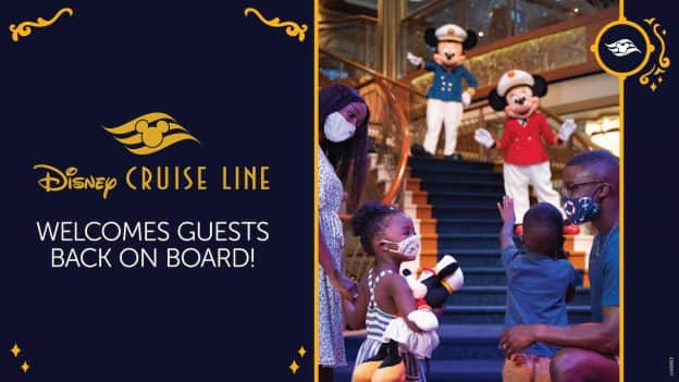 Graphic for Disney Cruise Line returning to sailing