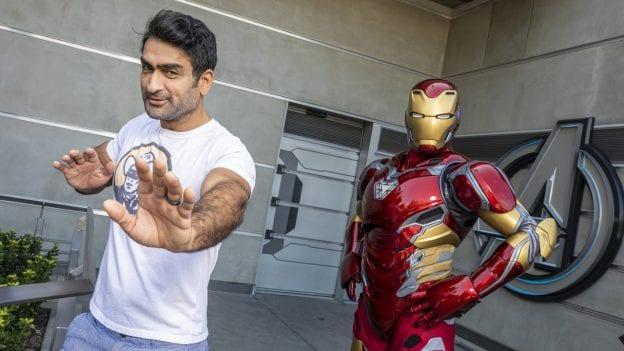 """Eternals"" Actor Kumail Nanjiani Encounters Iron Man in Avengers Campus at Disney California Adventure Park"