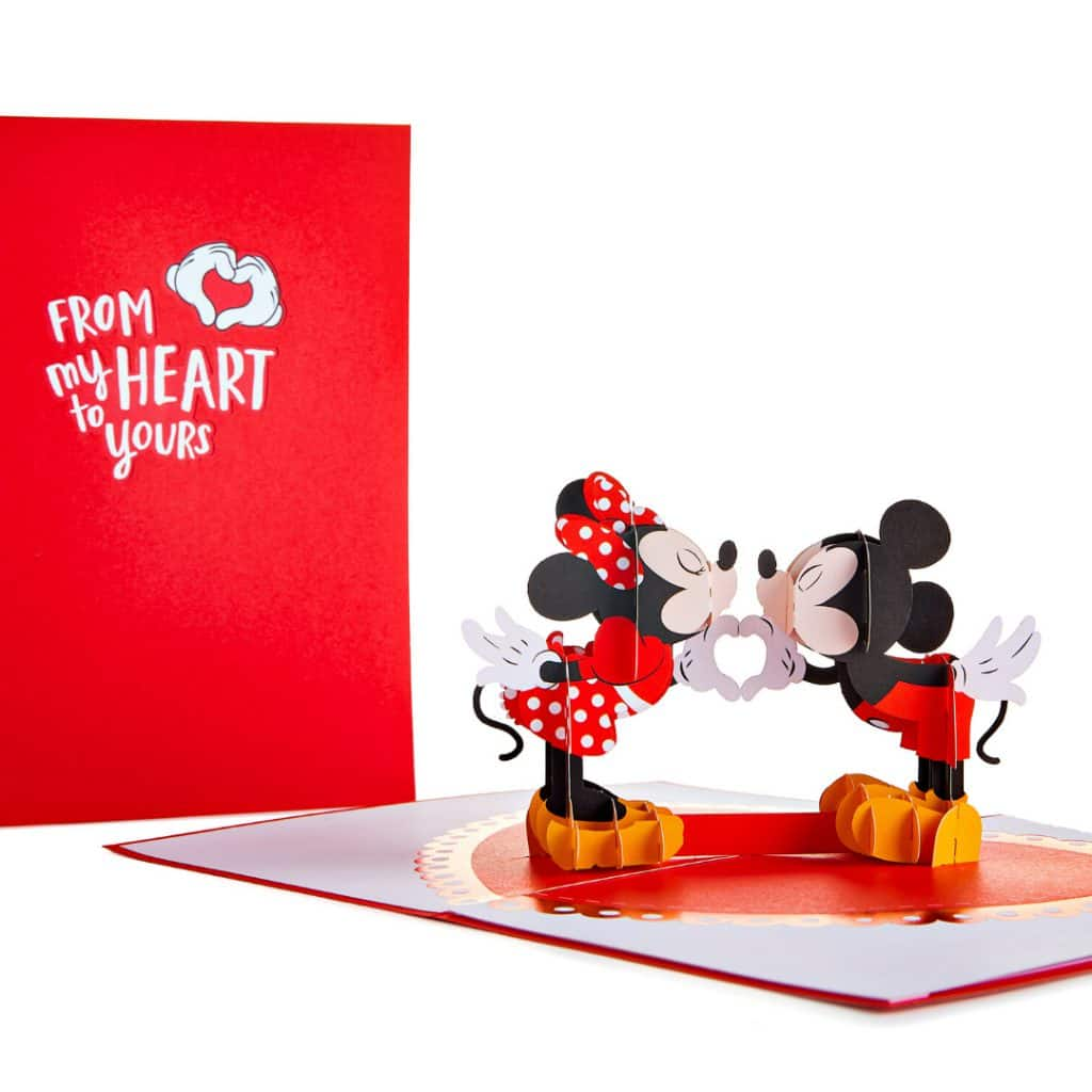 """Lovepop Mickey Mouse and Minnie Mouse Card - """"From My Heart to Yours"""""""