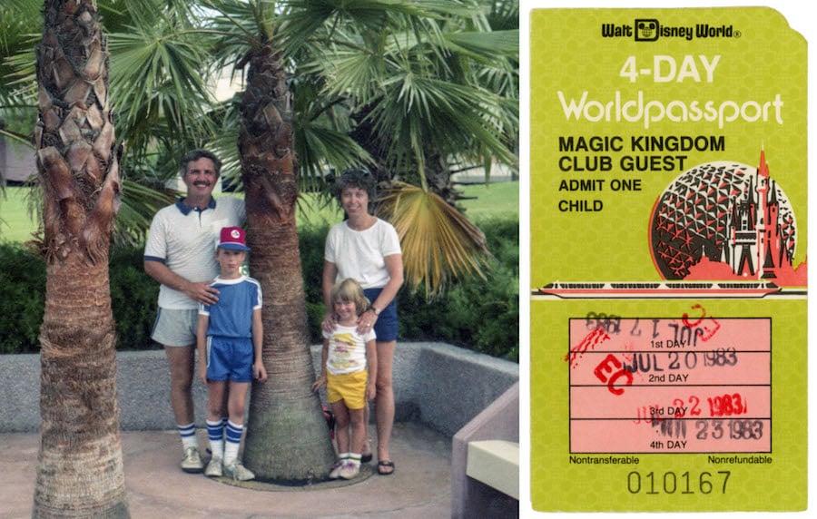 Disney Parks Blog author Steven Miller at EPCOT in 1983