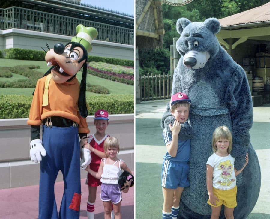 Disney Parks Blog author Steven Miller meeting Disney characters in his youth