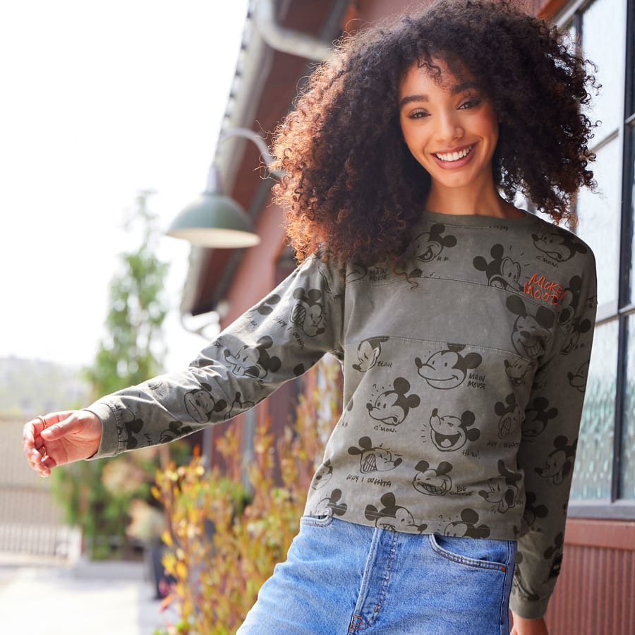 Long sleeve Mickey Mouse top