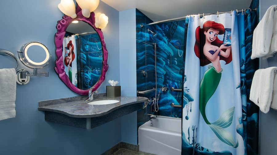 """The Little Mermaid""-themed room at Disney's Art of Animation Resort"