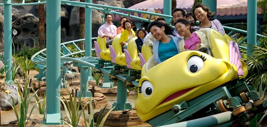 Flounder's Flying Fish Coaster at Tokyo Disney Resort
