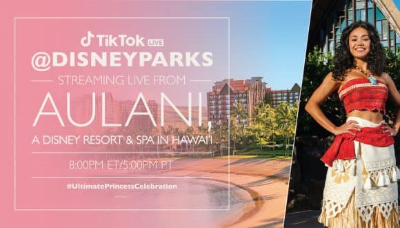 TikTok LIVE from Aulani graphic