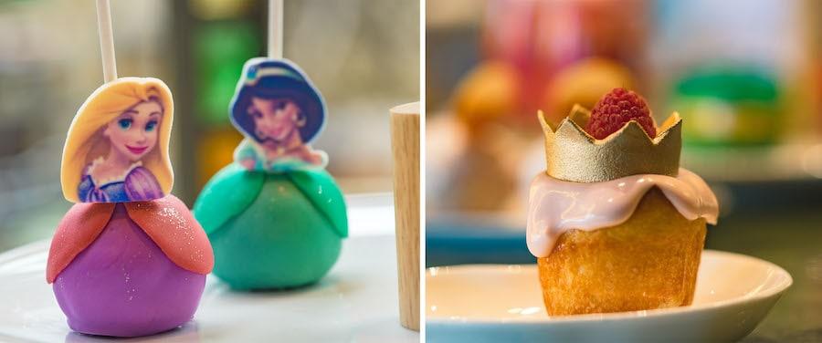 Princess-themed treats from Disney Princess Breakfast Adventures at Napa Rose