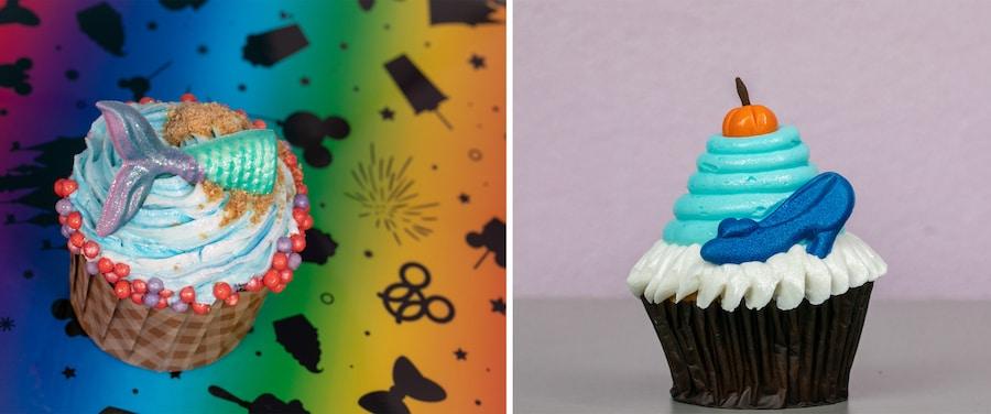 Mermaid Cupcake from Disney's Art of Animation Resort and Cinderella Cupcake from Disney's Contemporary Resort
