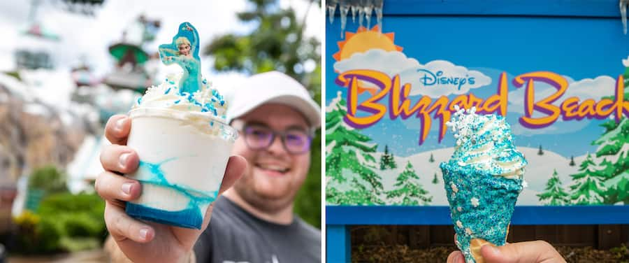 Elsa Freeze Sundae and Elsa the Snow Queen Cone from Disney's Blizzard Beach Water Park