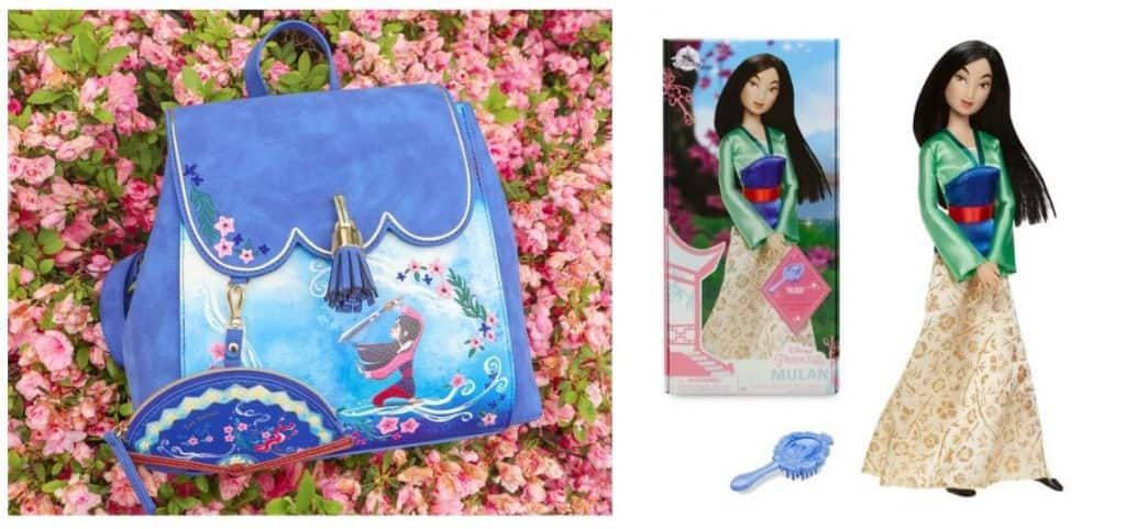 Danielle Nicole Disney Mulan For Honor Mini Backpack and the Mulan Classic Doll