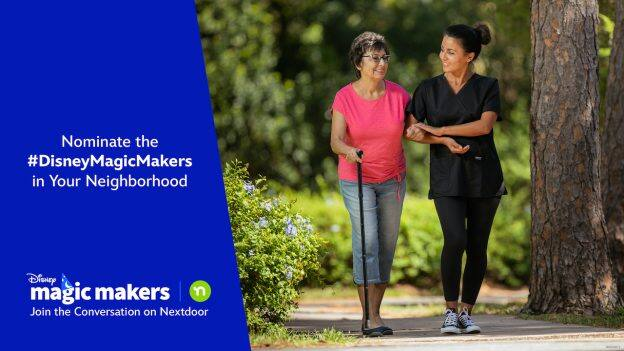 A Disney Magic Maker helping out in the community graphic