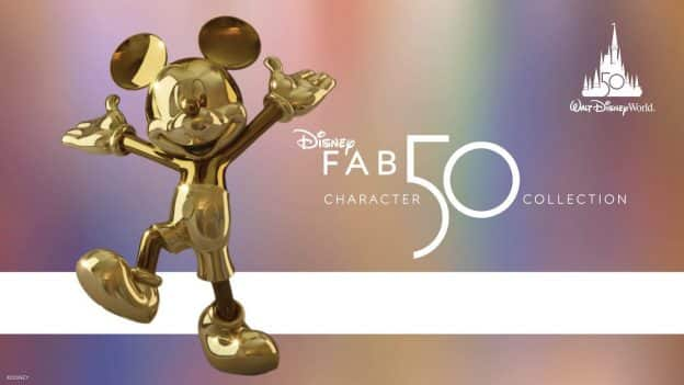 Disney's Fab 50 Collection graphic with Mickey Mouse